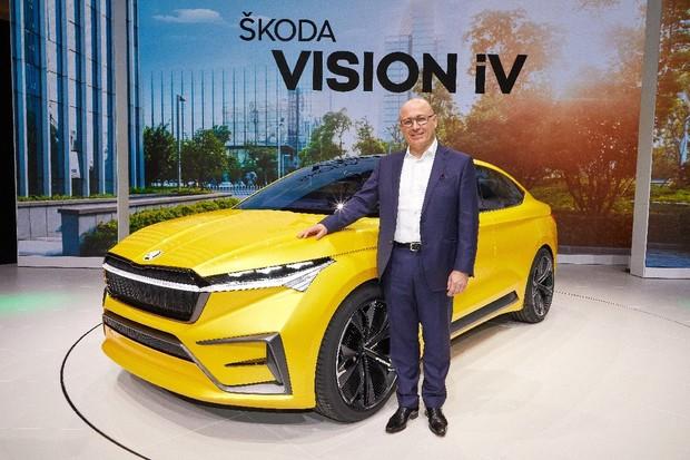 Čechy bude na poli elektromobility reprezentovat nádherná Škoda Vision iV