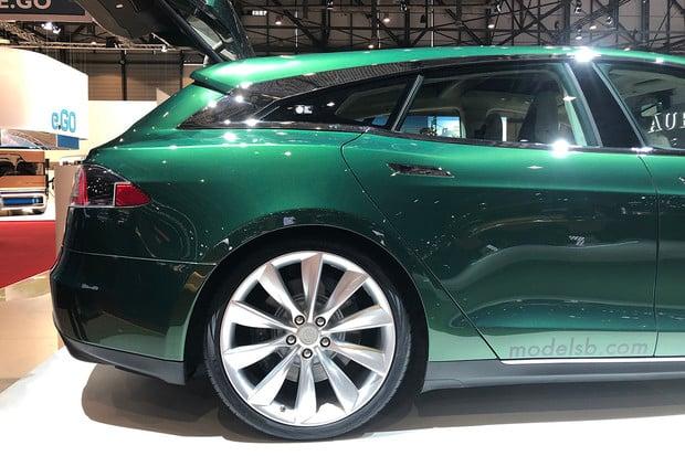 V Ženevě se ukázala Tesla Model S ve verzi Shooting Brake