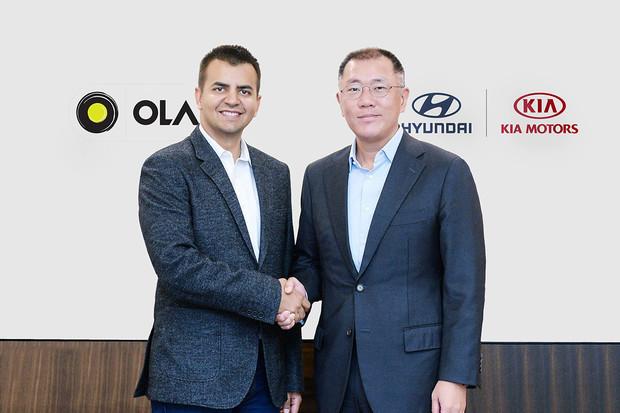 Hyundai a Kia investují více jak 7 miliard do poskytovatele služeb pro mobilitu Ola