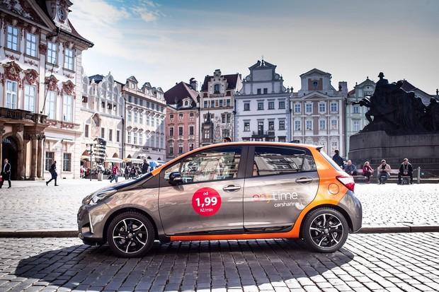 Světová jednička ve sdílení aut Anytime vstupuje do Prahy