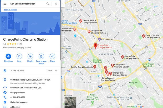 Google důsledněji zahrne nabíjecí stanice do svých map. Zatím jen ty v UK a USA