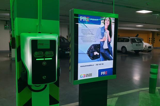 Už i v Galerii Butovice si můžete nabít váš elektromobil