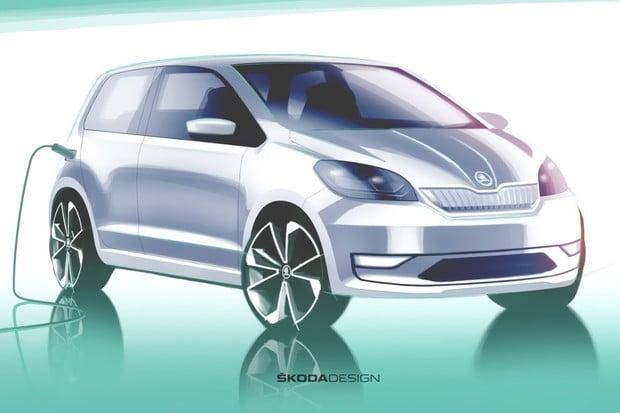 Takto nejspíš bude vypadat Škoda Citigo-e. Představí se za tři dny s novým Superbem