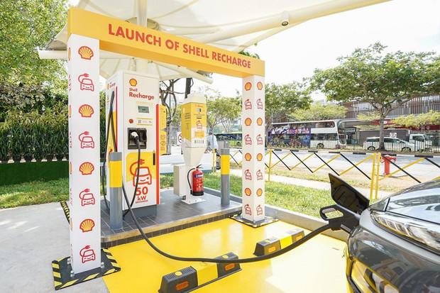 Shell představil první nabíječku Greenlots v Singapuru