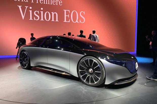 První pohled na Mercedes Vision  EQS, vizi budoucnosti automobilky
