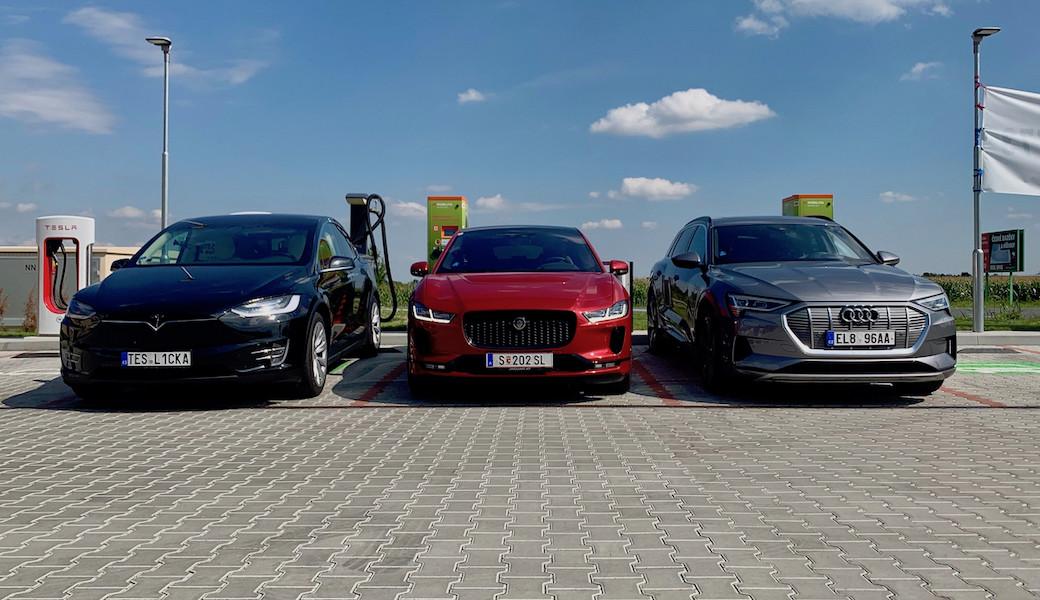 Tesla Model X proti Jaguaru I-PACE a Audi e-tron