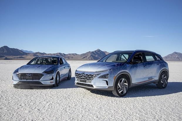 Koncepční vozy Hyundai NEXO a Sonata Hybrid dosáhly rychlostních rekordů