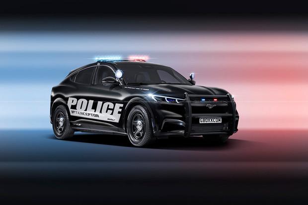 Policejní Ford Mustang Mach-E by mohl vypadat třeba takto