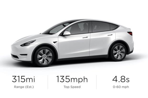 Tesla Model Y má dojezd přes 500 kilometrů a dorazí už v březnu