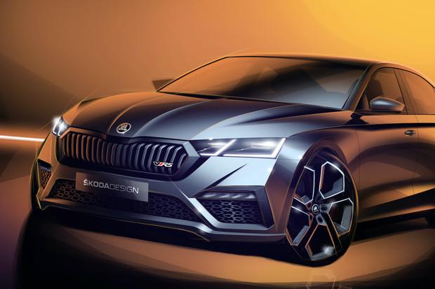 Škoda Auto ukazuje skici Octavie RS iV. Světu se představí v Ženevě