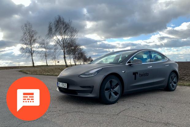 Tesla Model 3, prodeje elektromobilů a mapa výmolů na silnicích