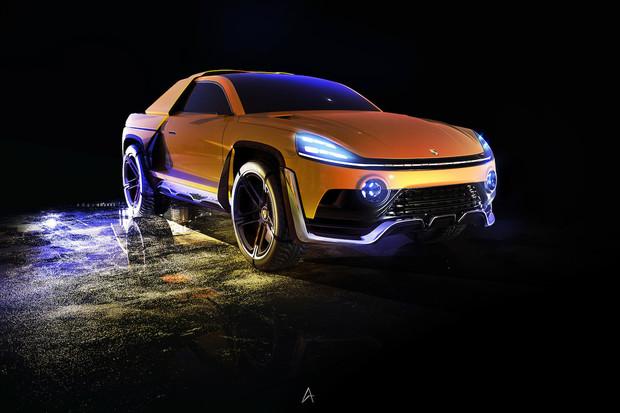 Designér si pohrál s myšlenkou elektrického pick-upu od Porsche. Líbí se vám?
