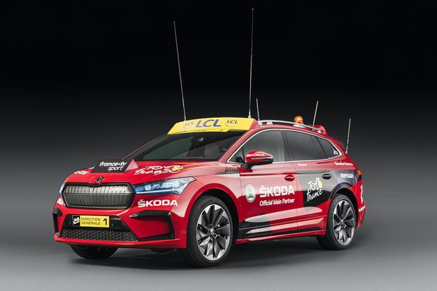Škoda Enyaq iV je dnes ředitelským vozem Tour de France