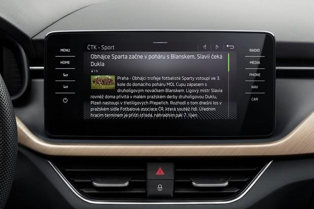 Škoda ve vybraných vozech spouští aplikace infotainmentu