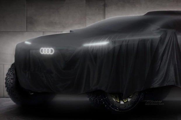 Tohle je první snímek nového off-roadu, s nímž Audi pojede Dakar