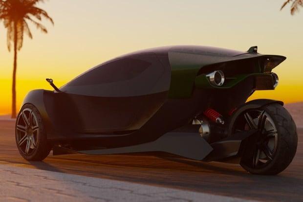 Daymak představuje nový elektromobil. Má tři kola a jen dvě místa