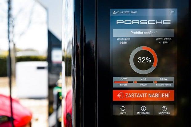 ČEZ ESCO postavilo unikátní baterii pro Porsche, 100 km dobije za 4 minuty