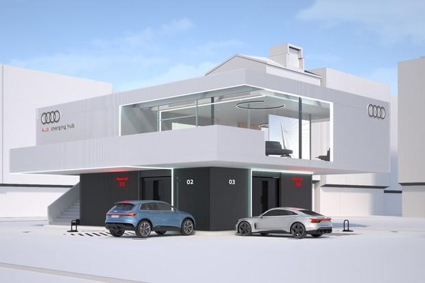 Nabíjení podle Audi. Rezervace a luxusní čekárna