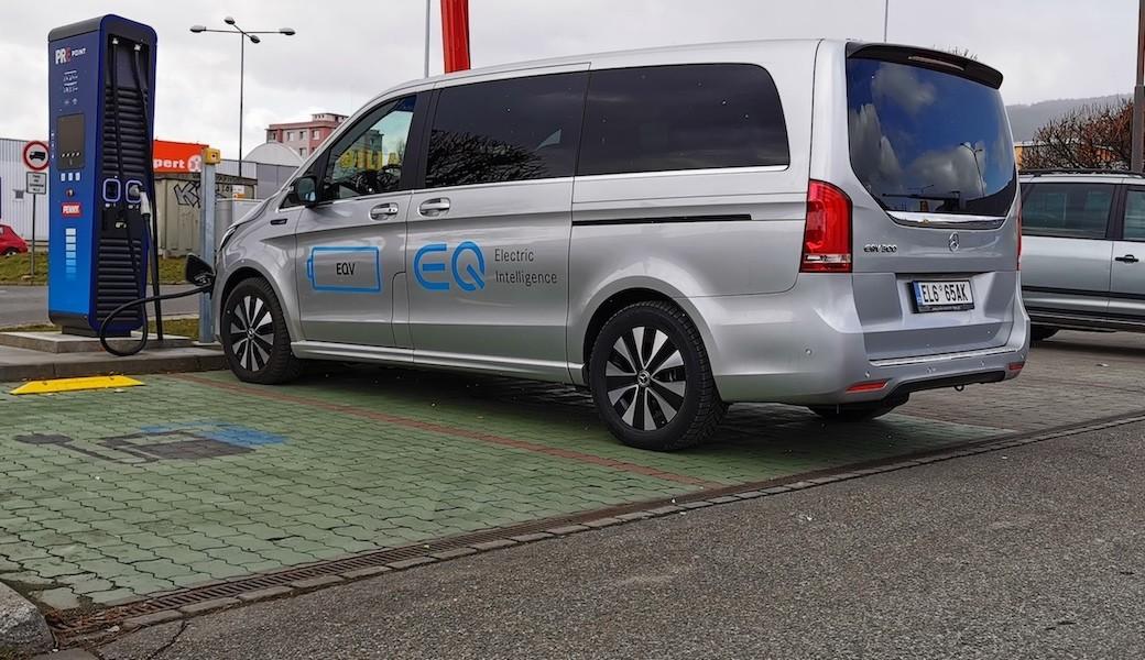 Reálná spotřeba Mercedesu EQV 300 v běžném provozu