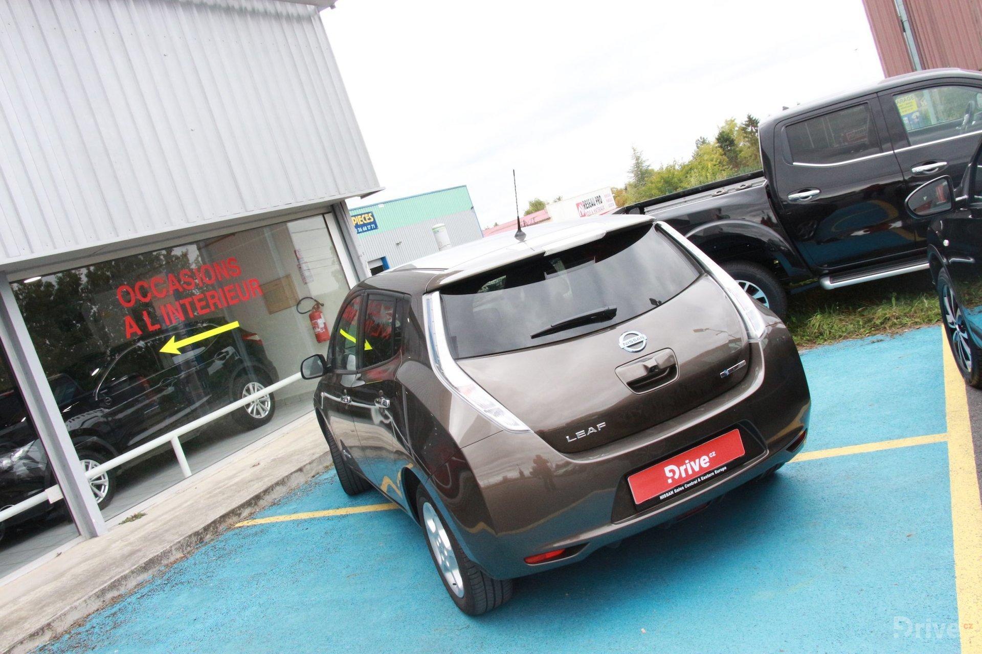 Nissan Leaf - cesta Paříž