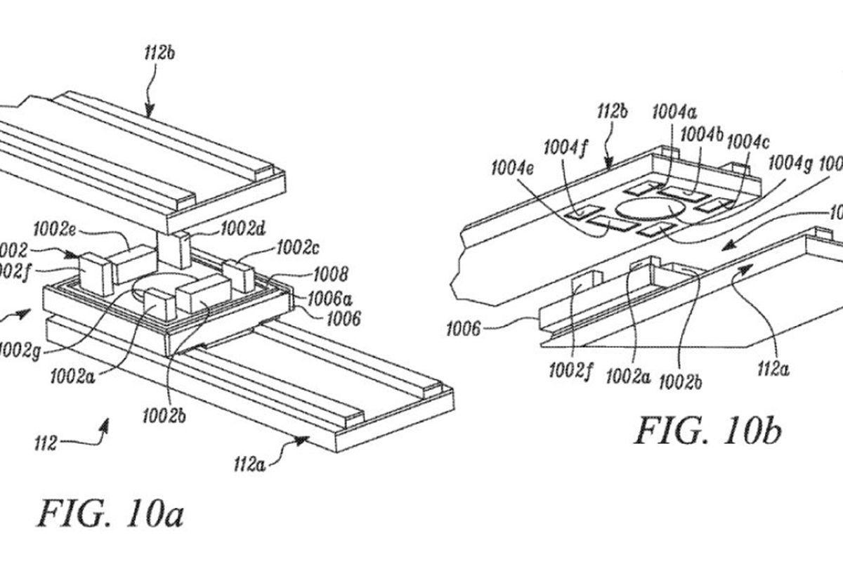 Patentový nákres nové architektury elektroinstalace Tesly