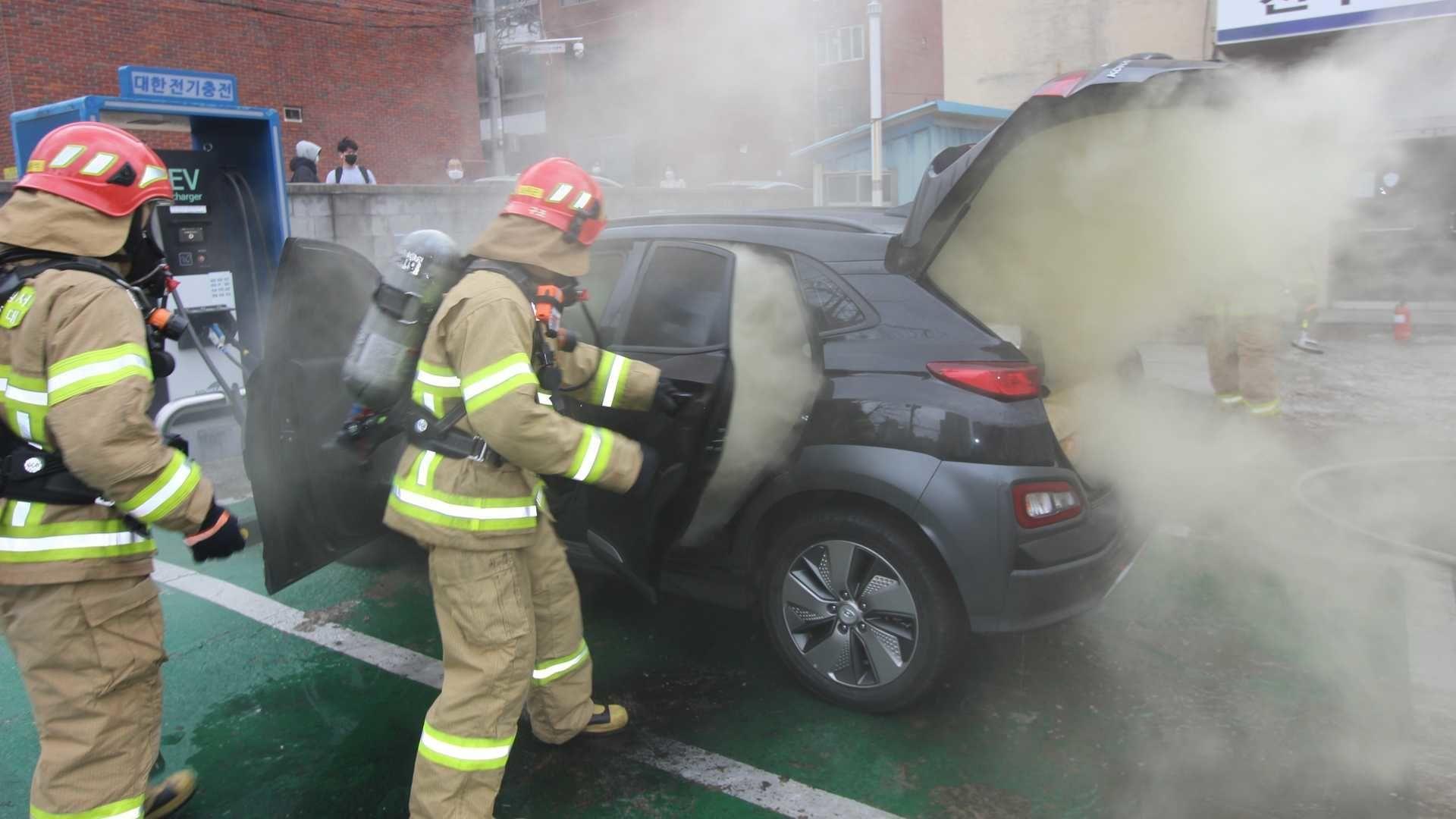 požár Hyundai Kona EV