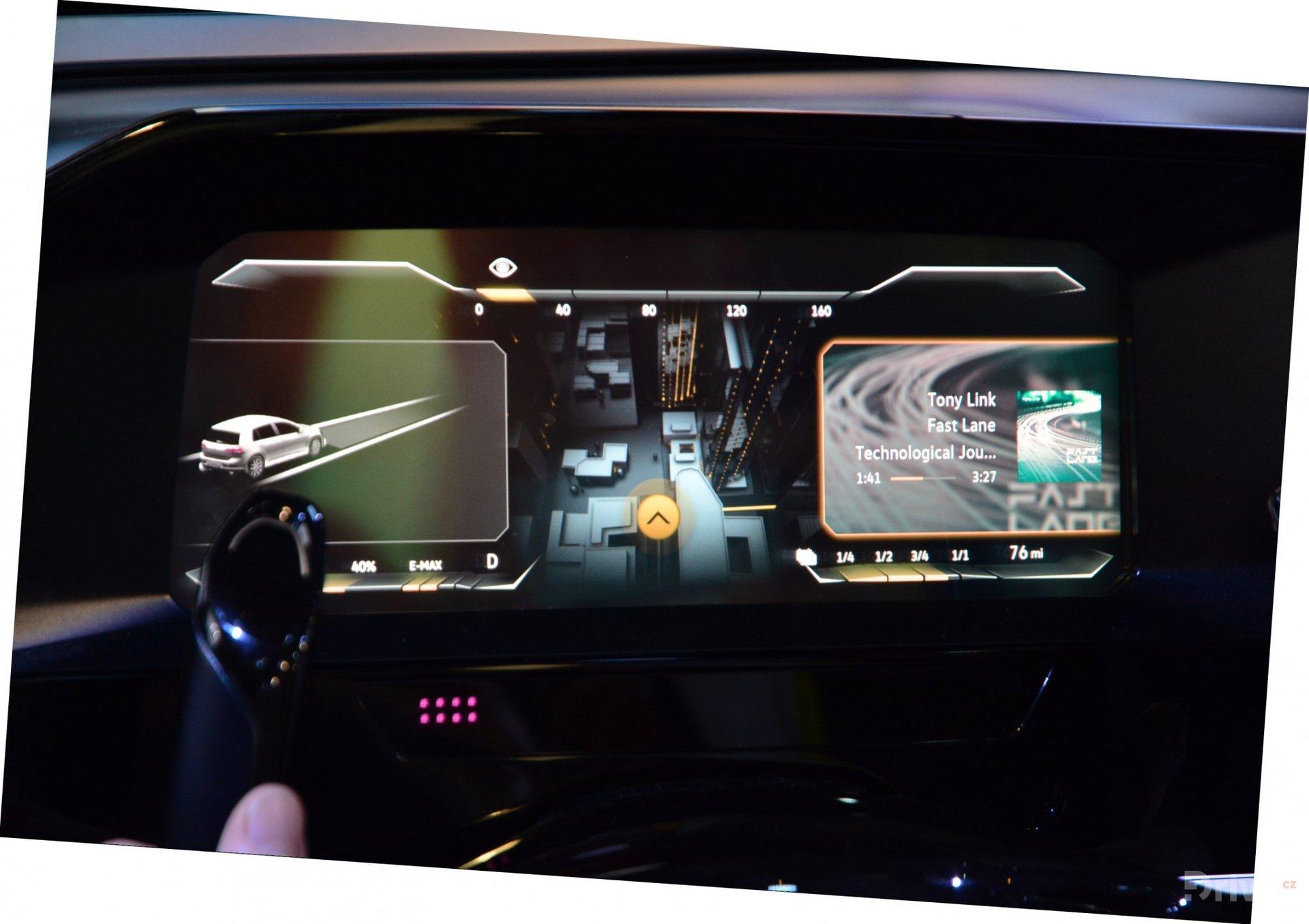 Přístrojová deska Volkswagenu budoucnosti
