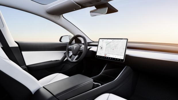 Tesla M3 interier