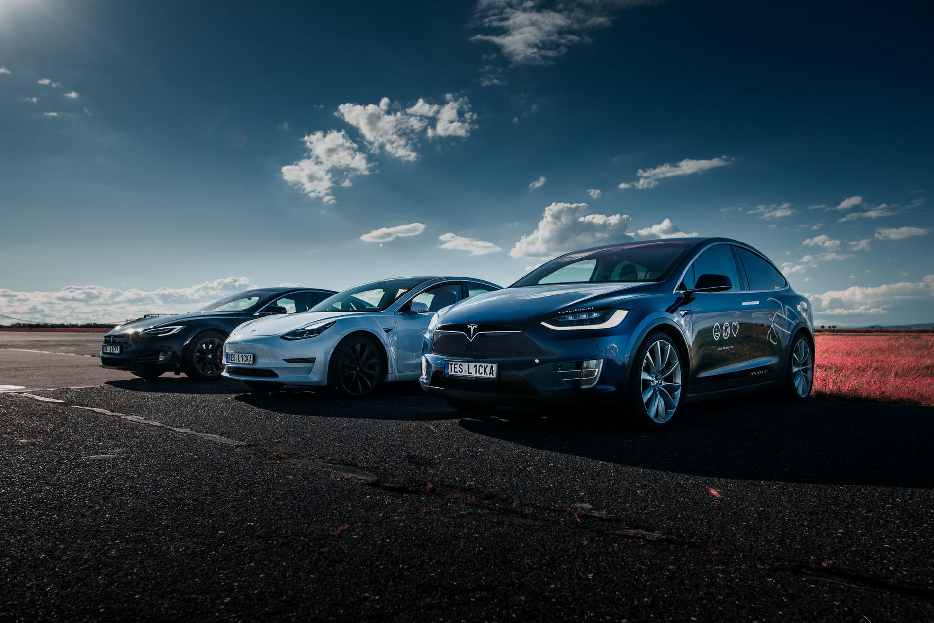 Tesla Model S, 3, X