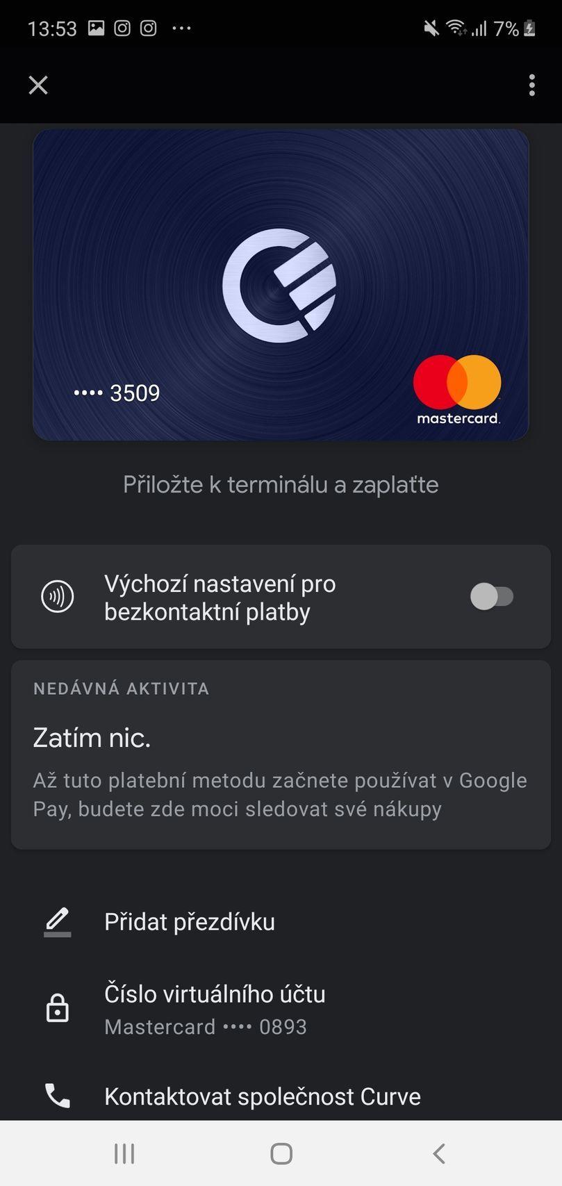 Curve - Google Pay