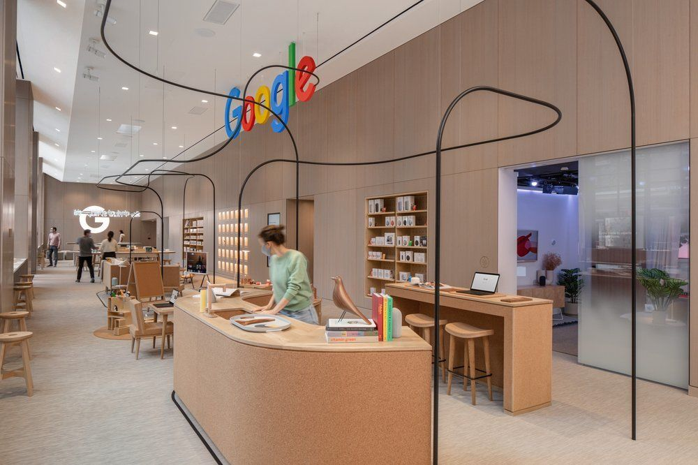 Google obchod v New Yorku