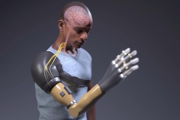 Tato bionická paže je schopna komunikovat s mozkem uživatele