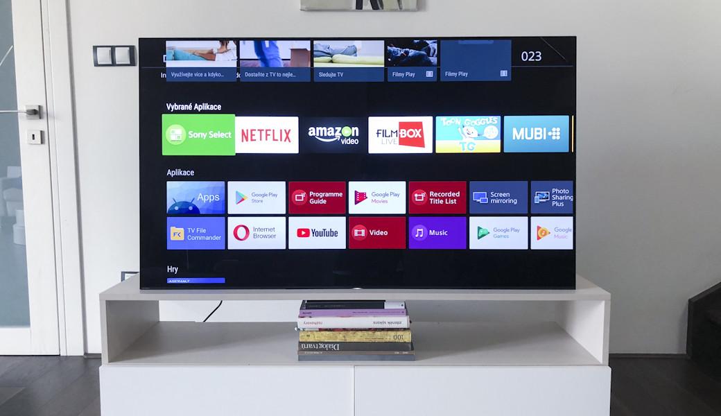 Android TV na televizích Sony Bravia