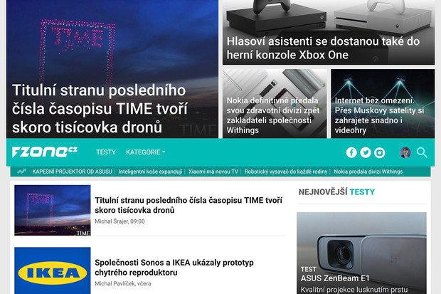 Spouštíme novou a přehlednější podobu úvodní stránky fZone.cz