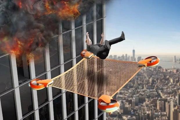 Dron NET GUARD pomůže při záchranných pracích ve velkých výškách
