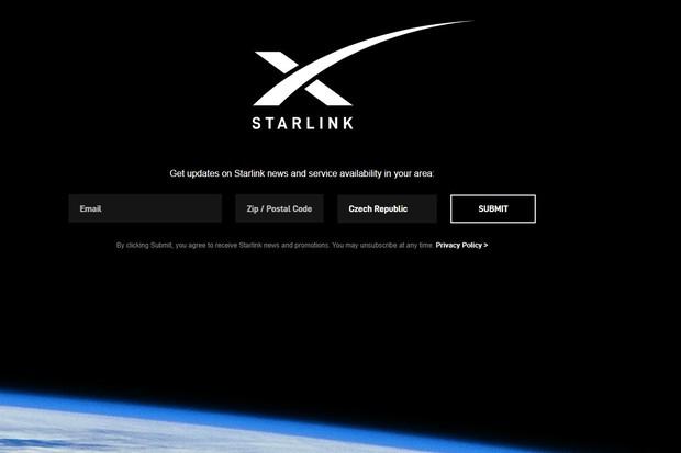 Internet přes družice Starlink se chystá na testování