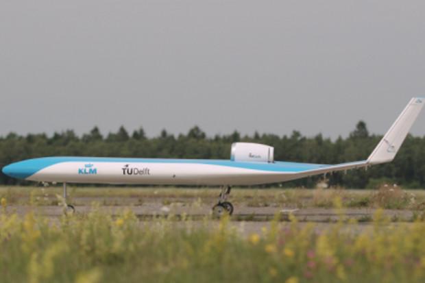 KLM slaví první úspěšný let futuristického modelu letadla Flying-V