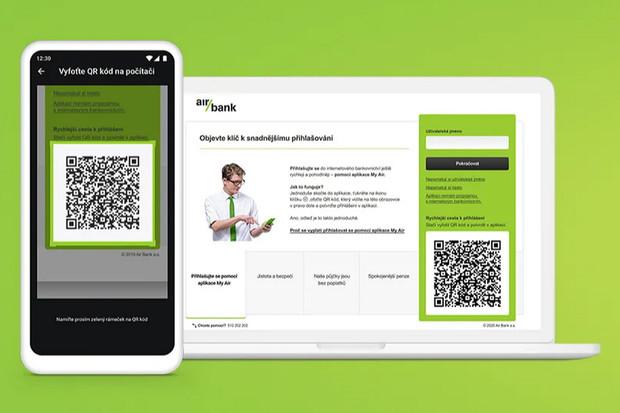 Air Bank přichází s přihlášením do internetového bankovnictví načtením QR kódu