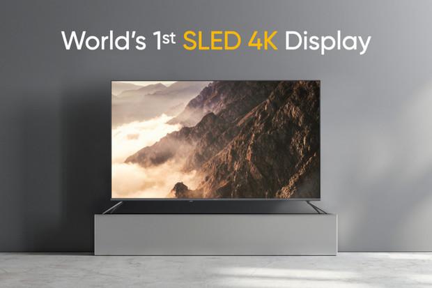 Mezi novými produkty od Realme je i televizor se SLED 4K displejem