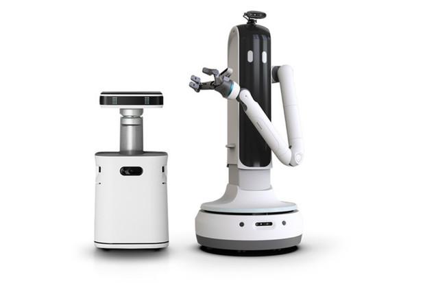 Robotický sluha Bot Handy od Samsungu se umí šklebit i pomáhat v domácnosti