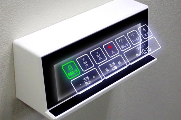 Japonsko vyvíjí bezkontaktní a holografická tlačítka pro hi-tech toalety