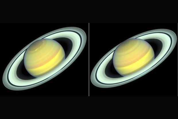 Hubbleův vesmírný dalekohled vidí, jak se mění Saturn v průběhu ročních období