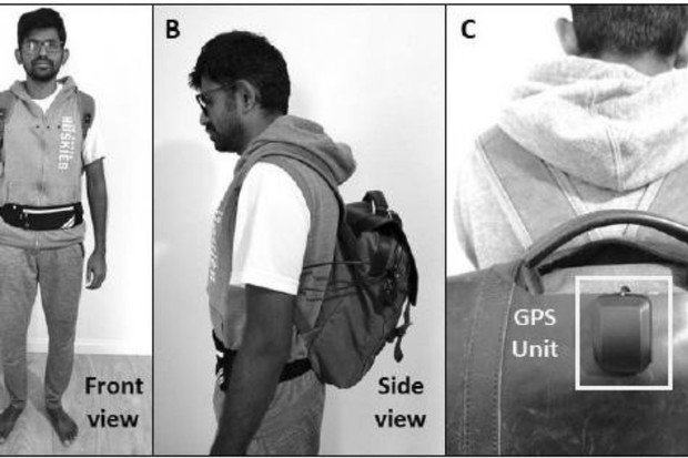 Tento batoh pomáhá zrakově postiženým s orientací v prostoru