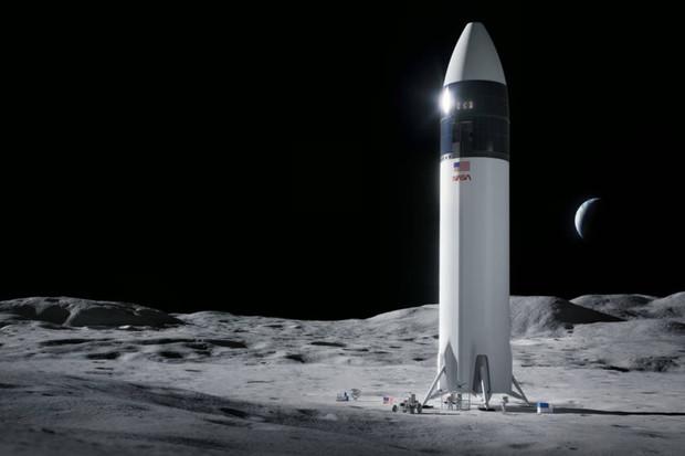 SpaceX postaví pro NASA lunární modul, který dopraví lidi na Měsíc