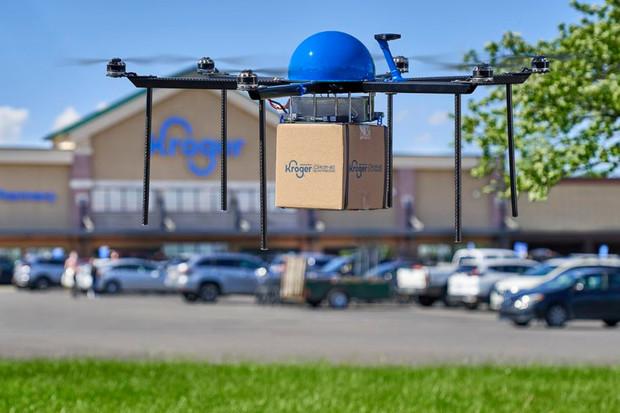 Americký supermarket Kroger testuje dronovou donášku