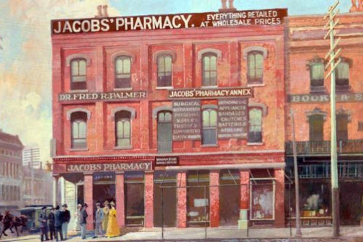 Lékárna, ve které byl sirup Coca-Cola prodáván