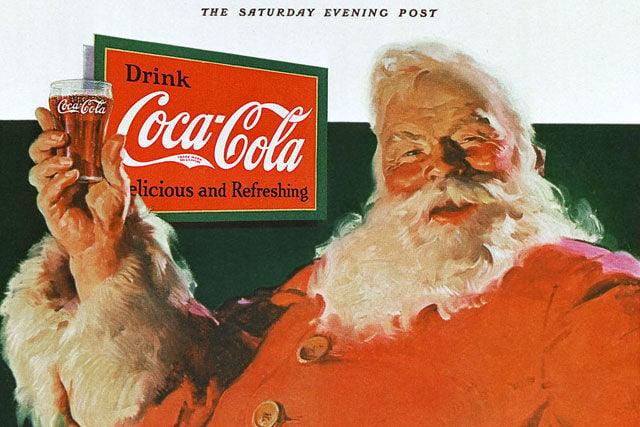 Vánoční reklamní kampaň Coca-Coly z roku 1931